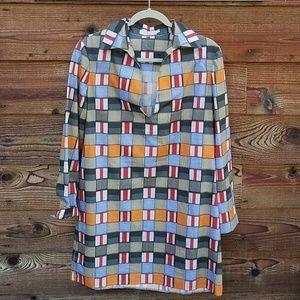 Tory Burch long sleeve geometric pattern 6